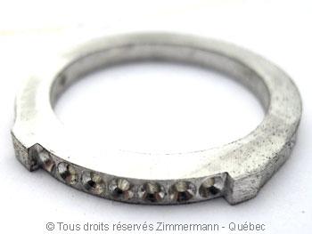 Bague argent serti bride de sept diamants de 2/100 ct Baab6011