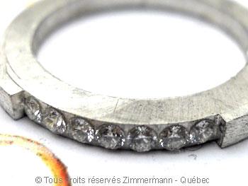 Bague argent serti bride de sept diamants de 2/100 ct Baab6012