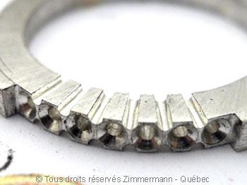 Bague argent serti bride de sept diamants de 2/100 ct Baab6013