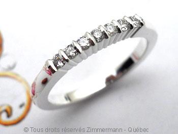 Bague argent serti bride de sept diamants de 2/100 ct Baab6019