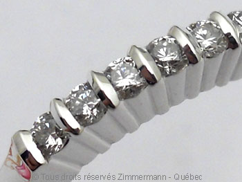 Bague argent serti bride de sept diamants de 2/100 ct Baab6020