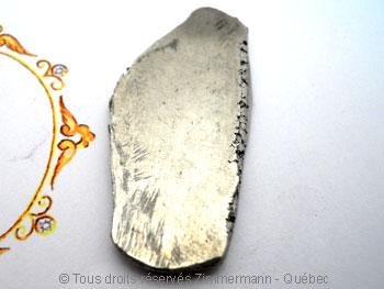 B.O. Palladium, saphir cabochon 3 mm et diamant de 8/100 ct Bopabc12