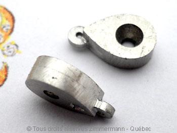 B.O. Palladium, saphir cabochon 3 mm et diamant de 8/100 ct Bopabc21