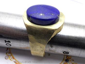 Chevalière or avec lapis-lazuli, à partir d'un lingot d'or de 102 grammes Cvoc0213