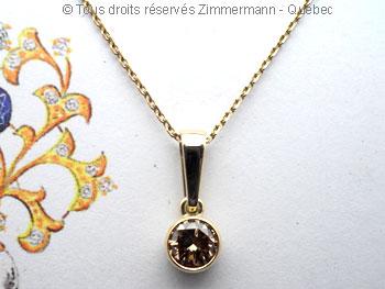 Diamant cognac 43/100 ct VS1 Peob8610