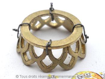 Pendentif or avec une morganite de 12,40 carats ( 14,9 mm de diamètre ) Peof1312