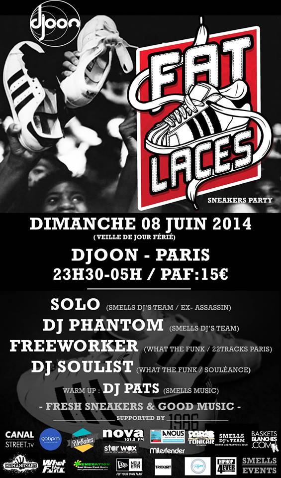 8 Juin Fat laces sneakers Party au Djoon Paris  Sneake10
