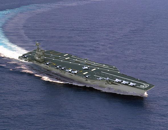 La marine américaine baptise son nouveau porte-avions nucléaire A23