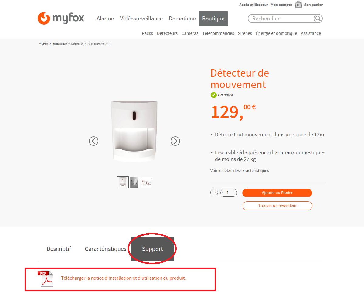 RECAPITULATIF : Matériel MyFox et accessoires compatibles 118