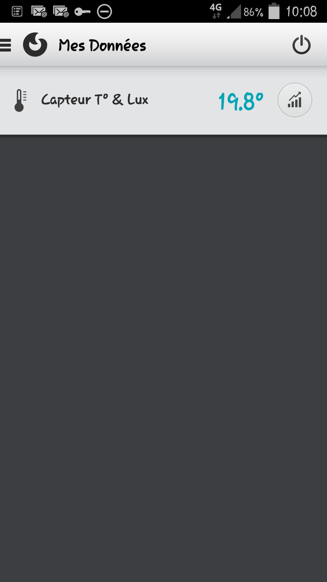 Sonde temperature et luminosité [TA4007] dans l'application mobile? Screen55
