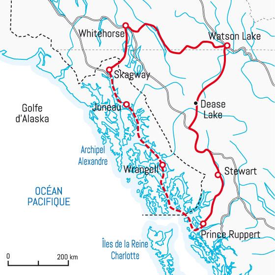 2013 Amérique du Nord:  Partie 1: Niagara Falls - Prince Rupert - Passage Intérieur Carte_10
