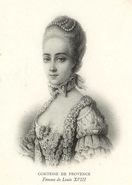 Marie-Joséphine de Savoie, comtesse de Provence Comtes10