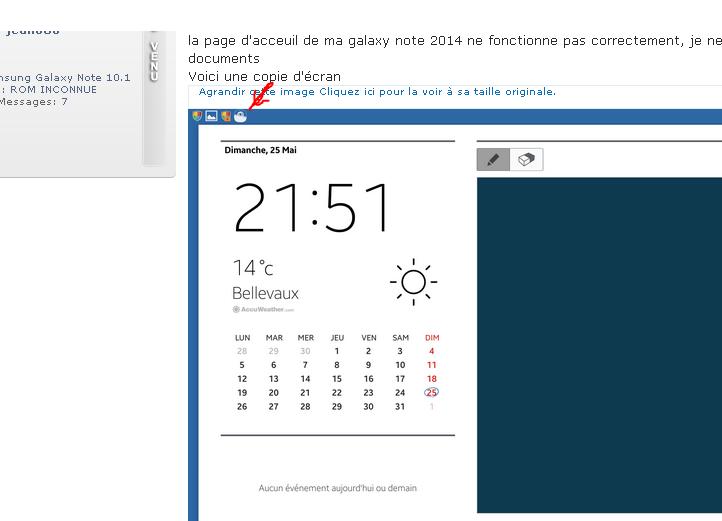 [AIDE] Probléme écran acceuil samsug galagy note 11111