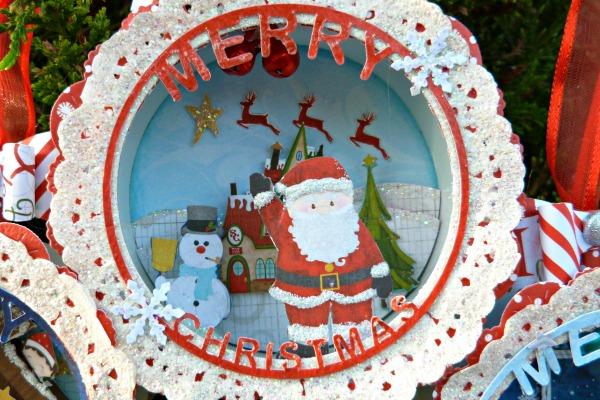 décoration de noël à suspendre Santa_10