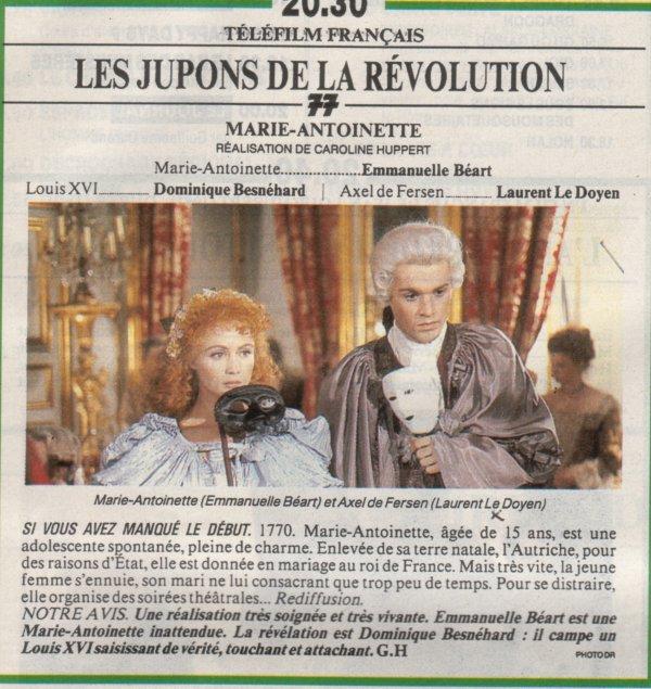Marie Antoinette, reine d'un seul amour de Caroline Huppert, avec Emmanuelle Béart - Page 2 03e10