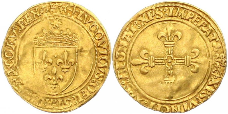 Quelles différences entre un écu au soleil de louis XI et Louis XII 176k-110