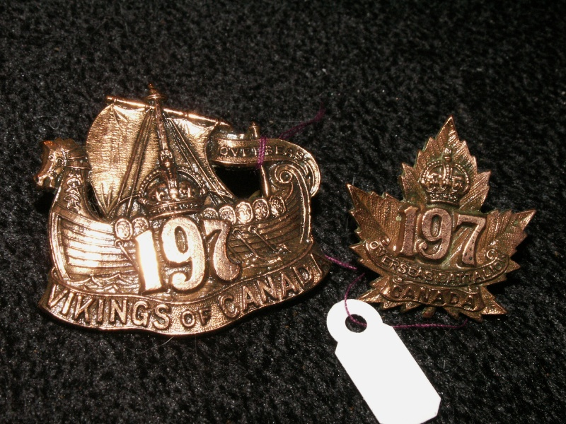 197th Cap and Collar Badges 19710