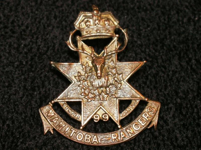 99th Manitoba Rangers Cap Badge 99_mr10