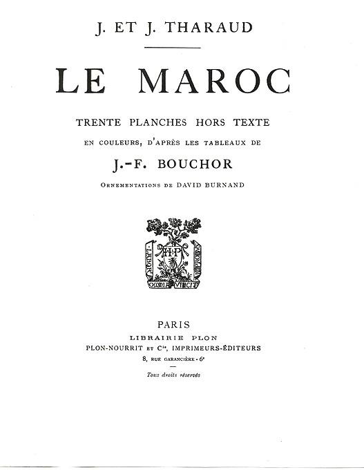 Jean et Jérôme THARAUD, LE MAROC - 1923 - Bscan_11