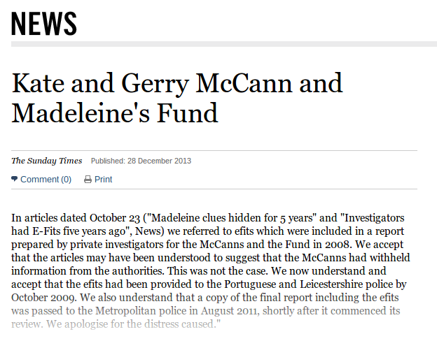 McCanns taking Times to court? Stefit10