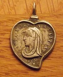 Médaille en forme de coeur - Jésus & Marie - légendes particulières - XVIIème Azerty10