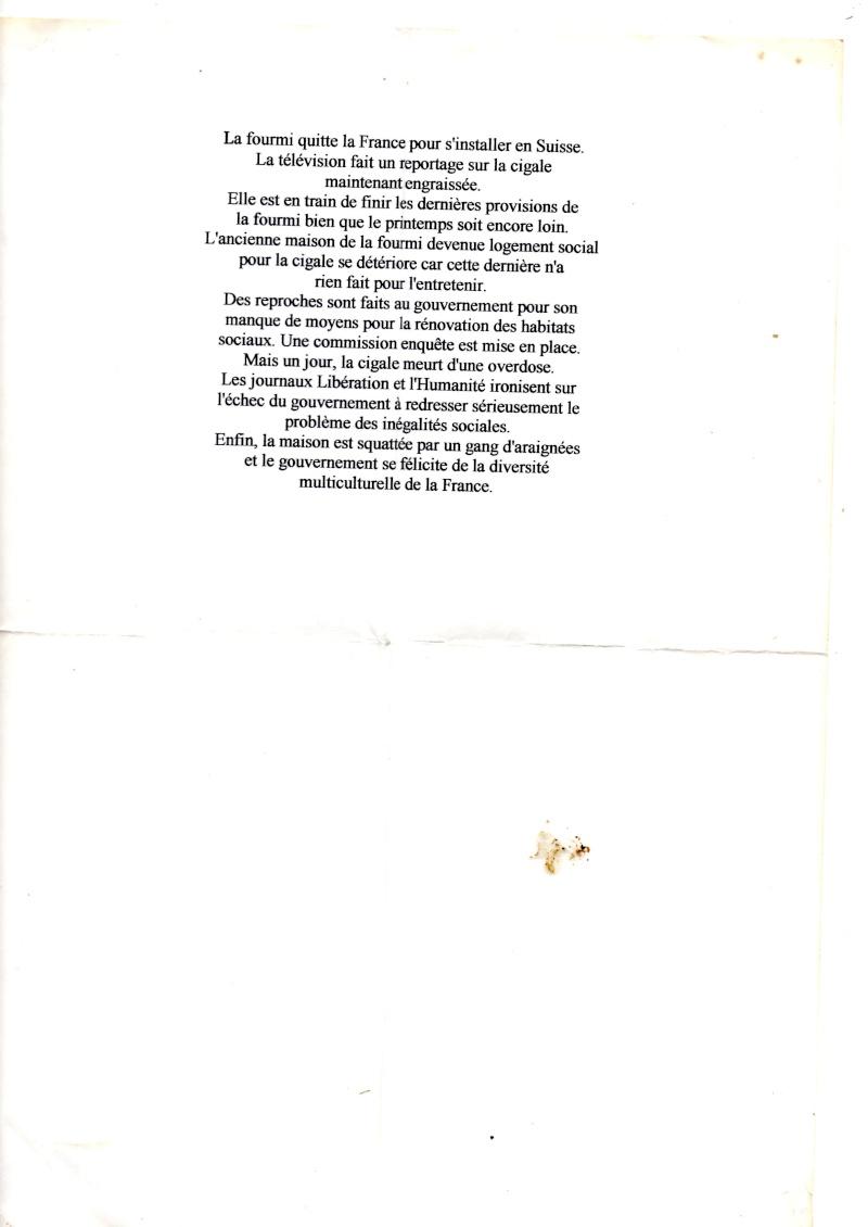 la cigale et la fourmis  :autre version ... Img00910