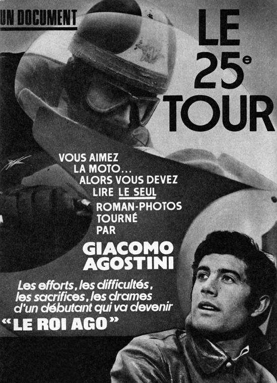 Vous aimez la moto, alors vous devez lire le seul roman-photos tourné par AGOSTINI Ago-0110