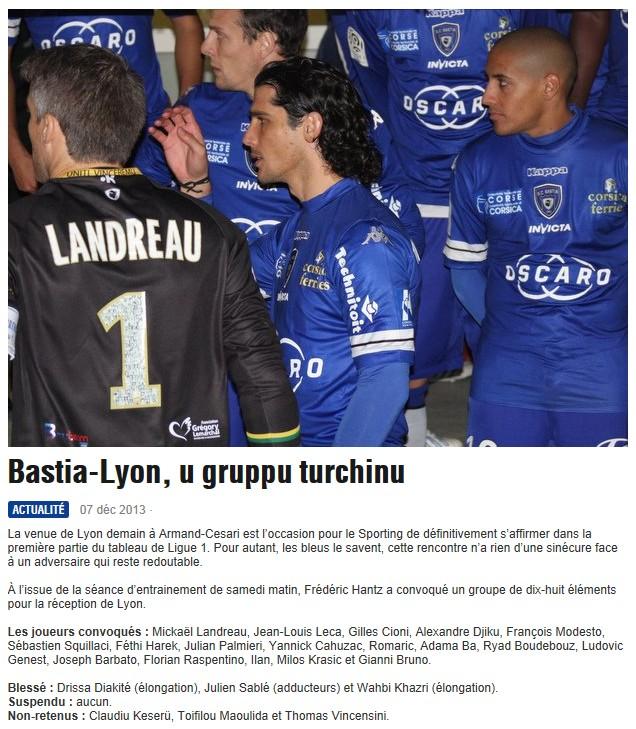 J17 / Jeu des pronos - Prono Bastia-Lyon S117