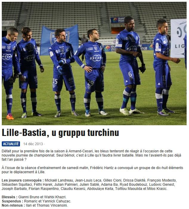 J18 / Jeu des pronos - Prono Lille-Bastia S126