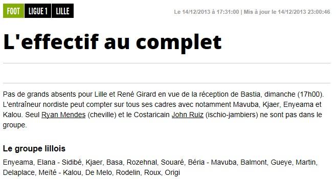 J18 / Jeu des pronos - Prono Lille-Bastia S132