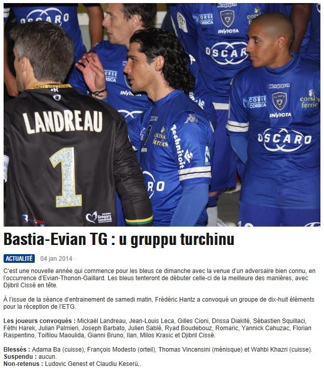32CdF / Jeu des pronos - Prono Bastia-Evian S156
