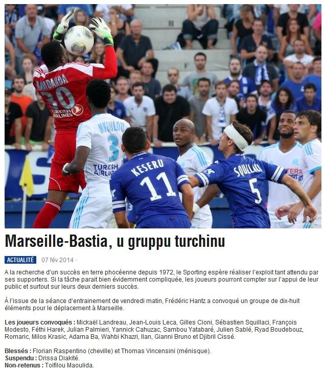 J24 / Jeu des pronos - Prono Marseille-Bastia S198