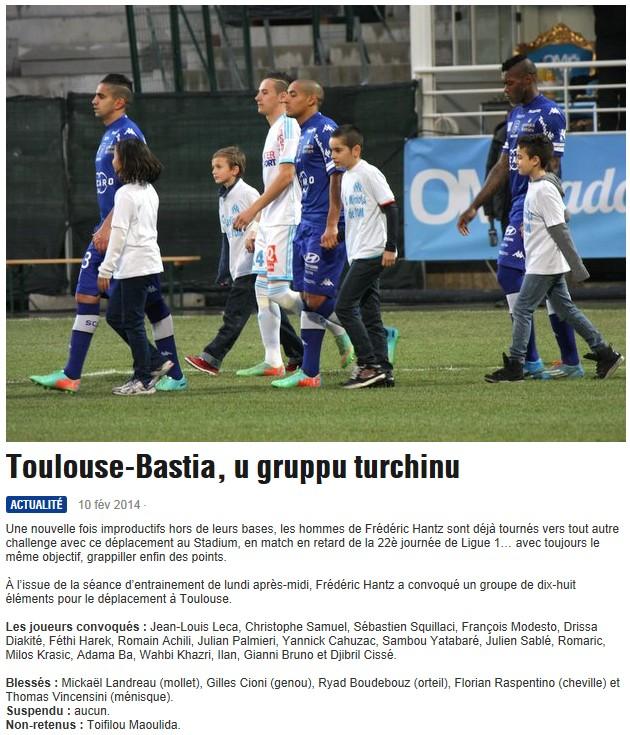 J22 / Jeu des pronos - Prono Toulouse-Bastia S210