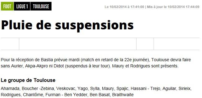 J22 / Jeu des pronos - Prono Toulouse-Bastia S211