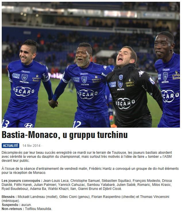 J25 / Jeu des pronos - Prono Bastia-Monaco S220