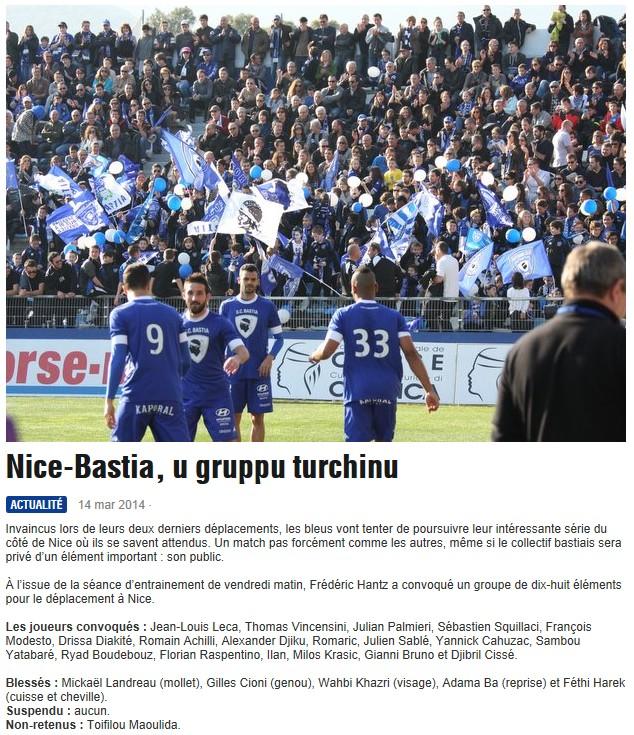 J29 / Jeu des pronos - Prono Nice-Bastia S255