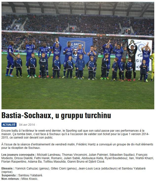 J32 / Jeu des pronos - Prono Bastia-Sochaux S278