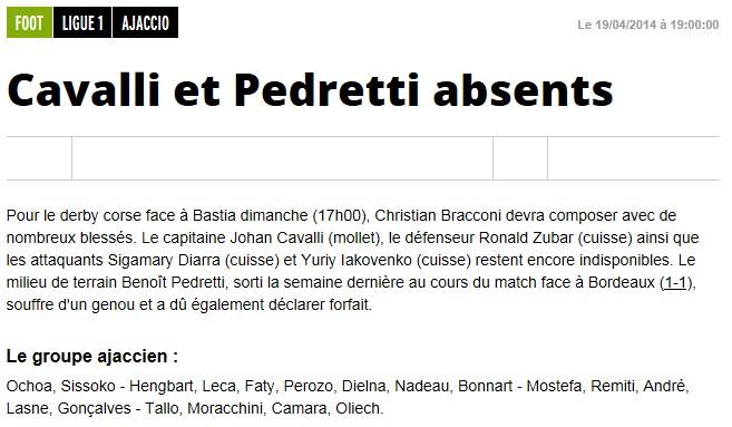 J34 / Jeu des pronos - Prono Bastia-Ajaccio S292