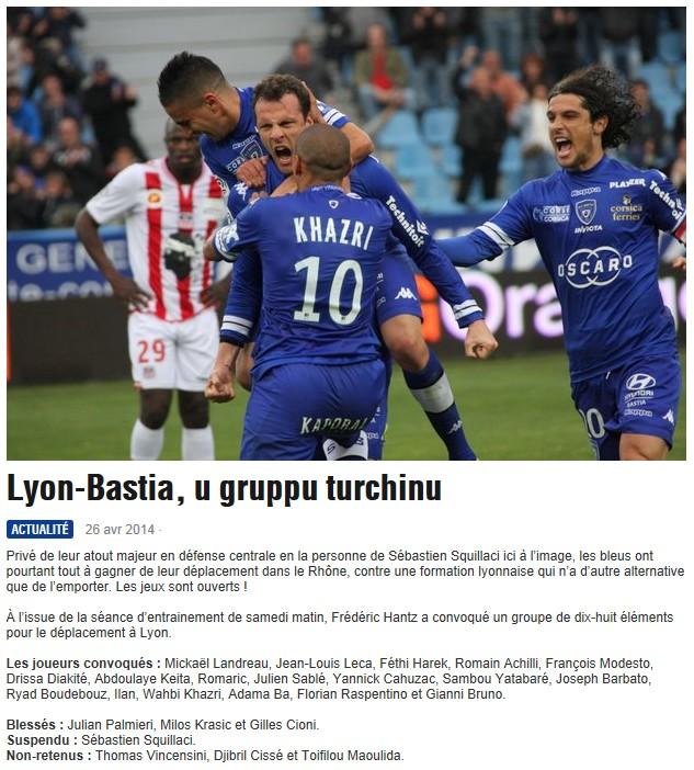 J35 / Jeu des pronos - Prono Lyon-Bastia S296