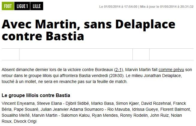 J36 / Jeu des pronos - Prono Bastia-Lille S307