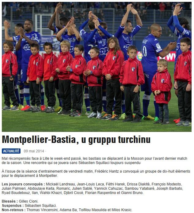 J37 / Jeu des pronos - Prono Montpellier-Bastia S316