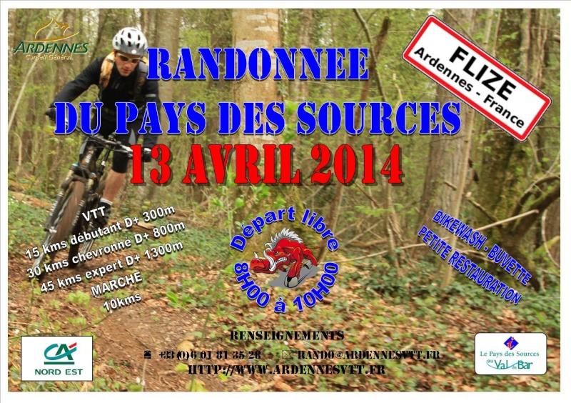 13/04/2014 RANDONNEE DU PAYS SOURCES Flyer_13
