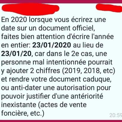 Bon à savoir pour 2020 202012