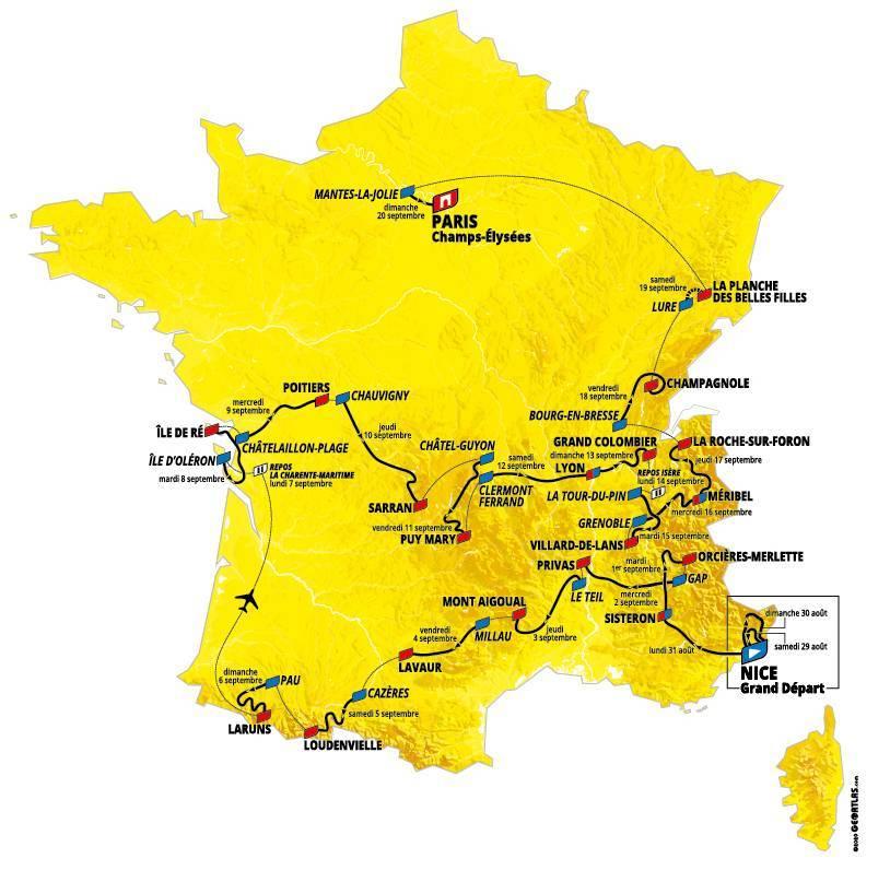 Parcours du Tour de France 2020 Fe59110