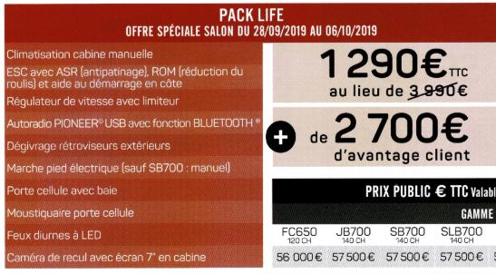 Current default radio / Radio par défaut actuelle Pack2010