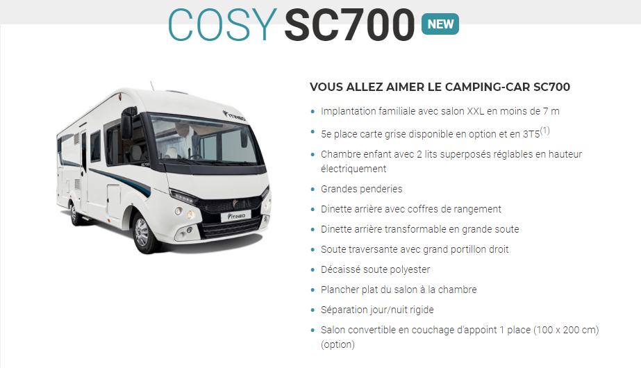 ITINEO SC700 2021 (NEW) en détail Sc700d10