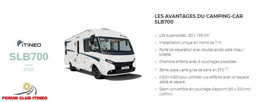 ITINEO SLB700 2020 en détail Slb70025