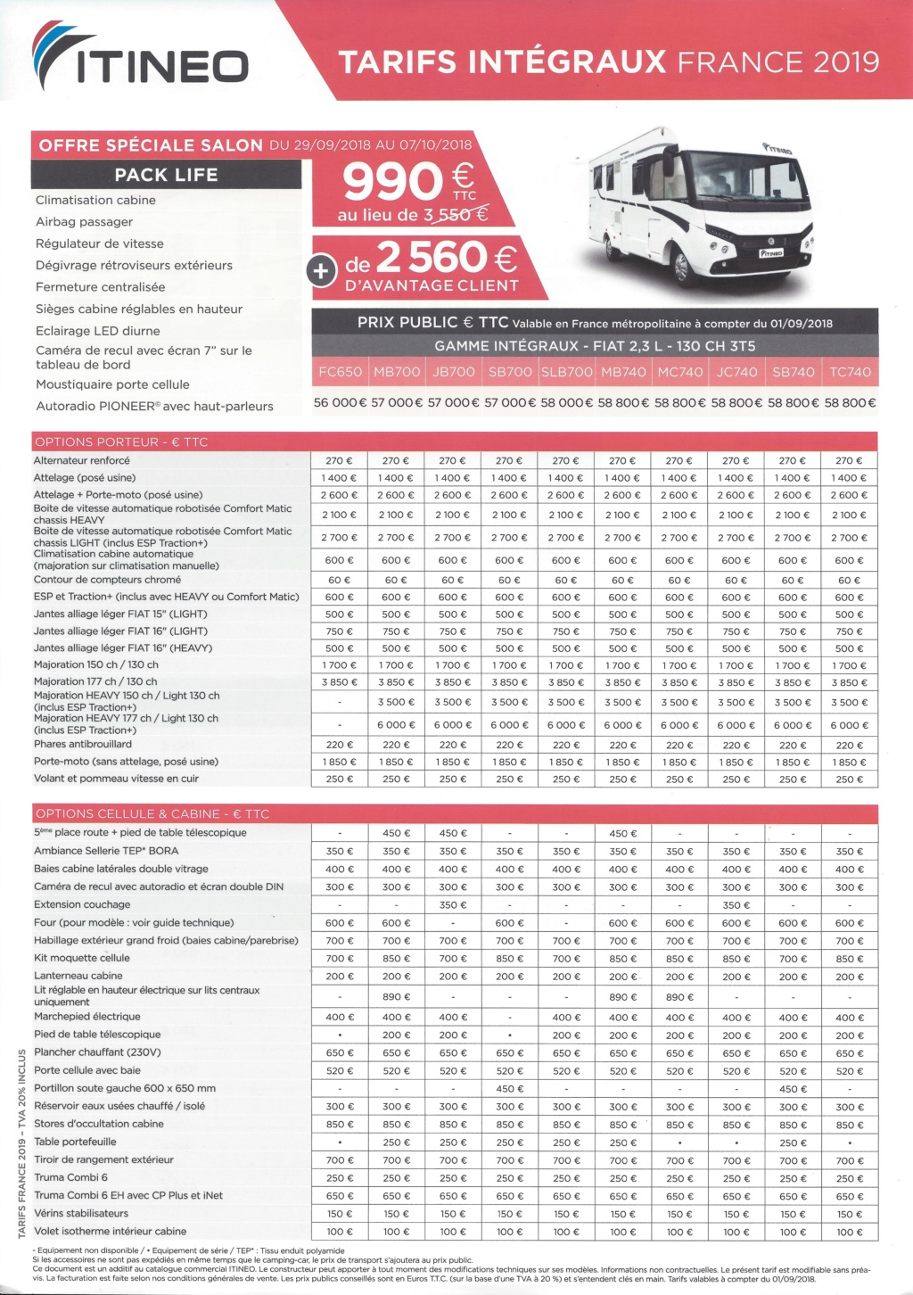 Tarif intégraux France 2019 (véhicules et accessoires) Tariti12