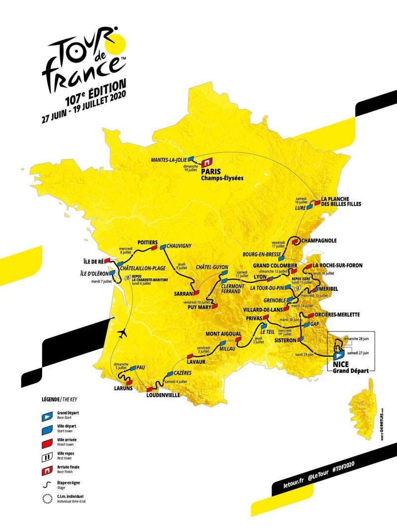 Parcours du Tour de France 2020 Tour2010