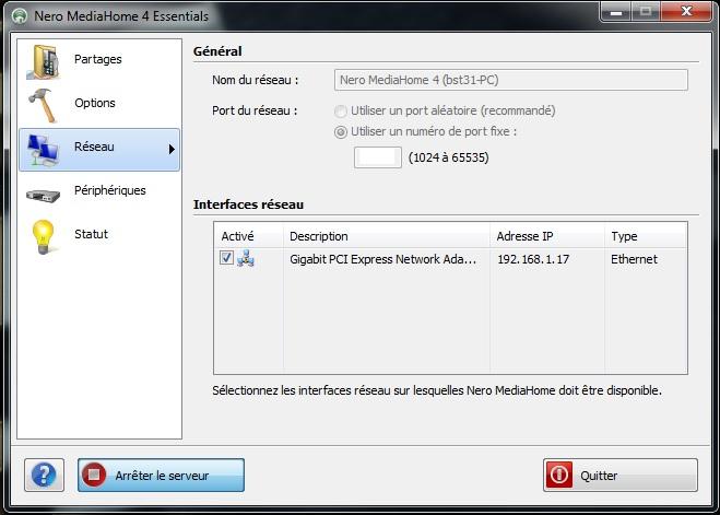 installer facilement un reseau DLNA + tutoriel simplifié nero media home  Nero_211
